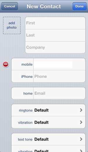 введите контактную информацию