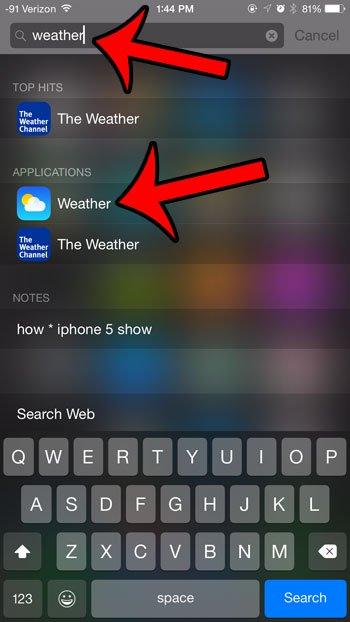 выберите приложение погоды