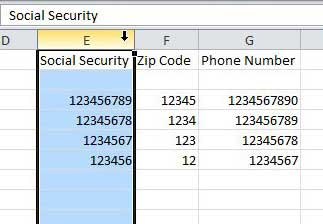 Как сохранить лидирующие нули в Excel 2010