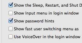 не показывать подсказки пароля на вашем MacBook Air