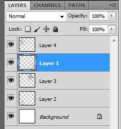 Как объединить слои в Photoshop CS5