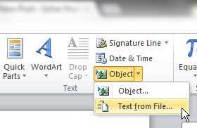 Как объединить несколько файлов слов в Word 2010