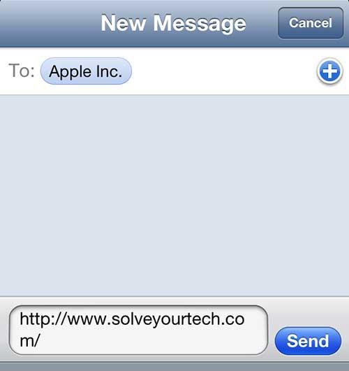 Введите контактную информацию в поле Кому, затем нажмите кнопку Отправить.