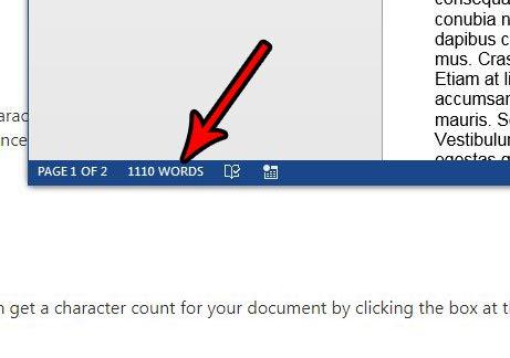 альтернативный метод подсчета символов в Microsoft Word