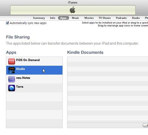 Нажмите Kindle внизу панели