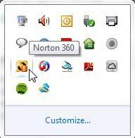 значок в системном трее norton 360