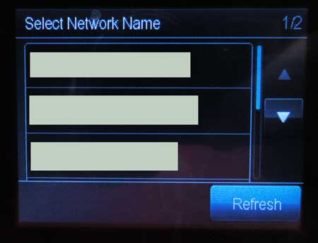 выберите вашу беспроводную сеть