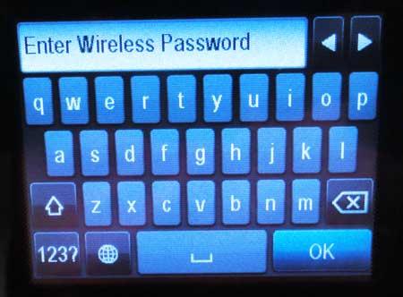 введите пароль вашей беспроводной сети