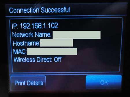 officejet 6700 успешно подключен к беспроводной сети