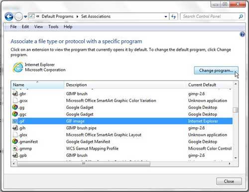 как открыть файл GIF в Windows 7