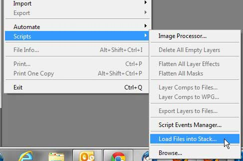 Как открыть несколько изображений в виде слоев в Photoshop CS5