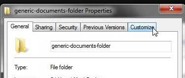 настроить вкладку в верхней части меню папки Windows 7