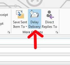 кнопка задержки доставки будет оставаться синей, когда запланировано электронное письмо