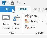 щелкните вкладку файла