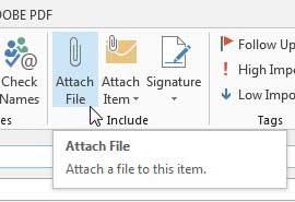 нажмите кнопку прикрепить файл