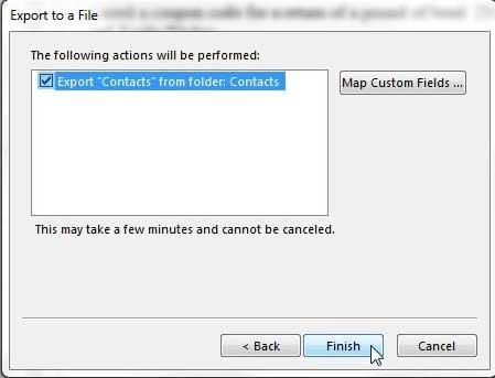 создать CSV-файл контактов