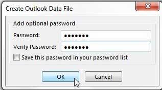установить пароль для экспортируемого файла