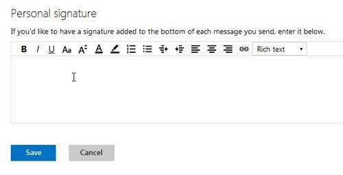 как создать подпись для вашего адреса электронной почты outlook.com