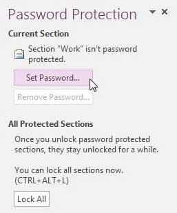 нажмите кнопку установить пароль