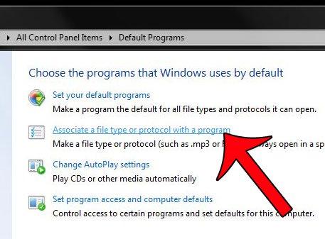 выбрать связать тип файла с программой