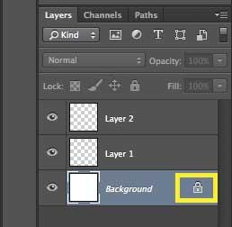 как разблокировать фоновый слой в фотошопе cs6