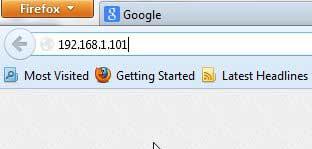 введите IP-адрес в адресную строку браузера
