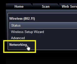 выберите опцию сети