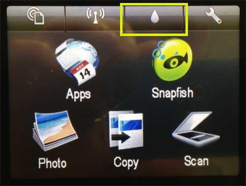 Как проверить уровень чернил на HP Photosmart 6510