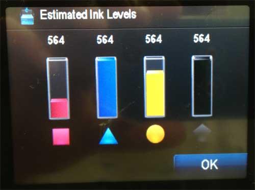 как проверить уровень чернил на photosmart 6510
