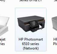 дважды щелкните значок photosmart 6510