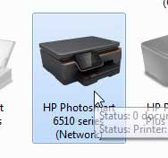 выберите значок photosmart 6510