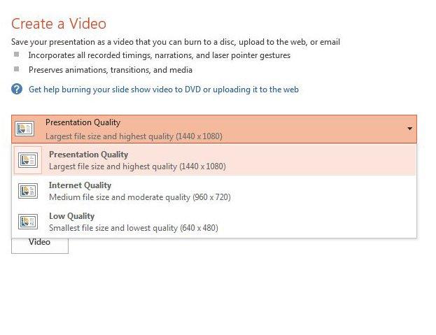 выберите качество видео