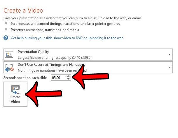 сохранить PowerPoint 2013 как видео