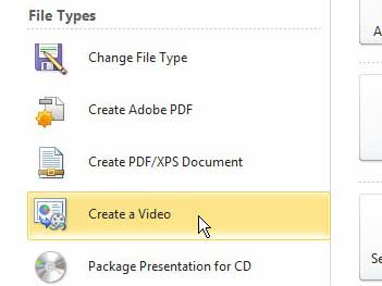 Powerpoint 2010 создать видео