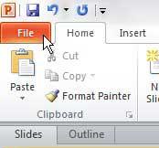 Как напечатать рамку вокруг слайдов в Powerpoint 2010