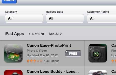 скачать и установить приложение canon ipad