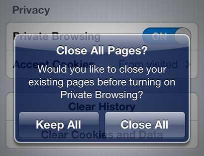 выбрать закрыть все или оставить все открытые страницы