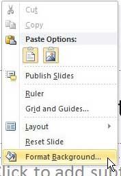 формат powerpoint 2010 фон