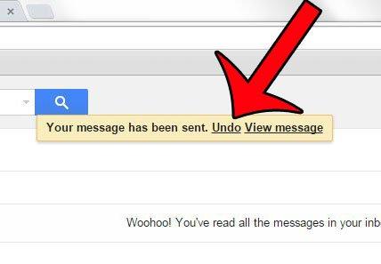 функция отзыва электронной почты Gmail в действии