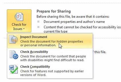 проверить документ Word 2010