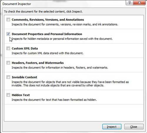 свойства документа и личная информация в Word 2010