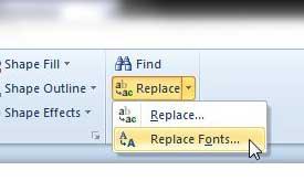 powerpoint 2010 заменяет шрифты