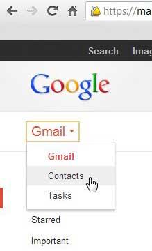 открыть меню контактов аккаунта гугл
