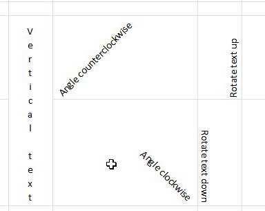 как повернуть текст по вертикали в Excel 2010
