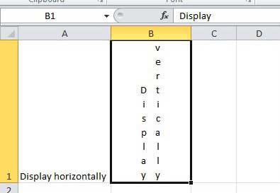 отображать текст Excel в нескольких вертикальных столбцах