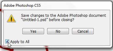 как сохранить все открытые изображения в фотошопе cs5