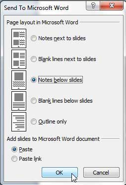 Раздать PowerPoint раздаточные материалы