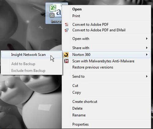 как сканировать отдельный файл с помощью Norton 360