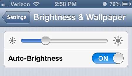 как снизить яркость экрана на iphone 5