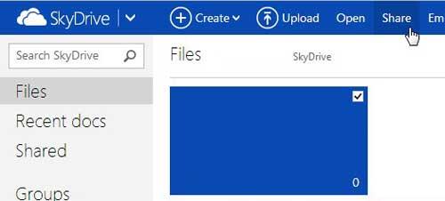 выберите файл, затем нажмите «Поделиться»